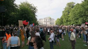BLM-protest in de Haarlemmerhout