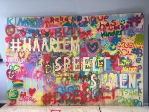 Kunstwerk gemaakt door de Kinder Gemeenteraad